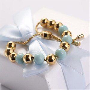 Michael Kors MK Gold Mint Beaded Quartz Bracelet
